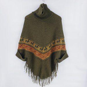 Baby Alpaca 100% Alpaca Poncho Style Cowl Sweater
